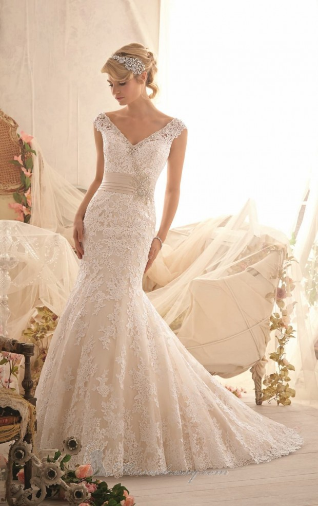 20 Lace Wedding Dresses For Romantic Brides Style Motivation - Romantic Lace Wedding Dress