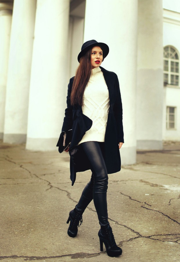 20 Popular Street Style Combinations for Winter (11)