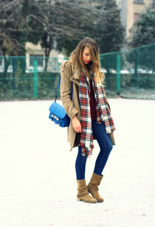 20 Popular Street Style Combinations for Winter (14)
