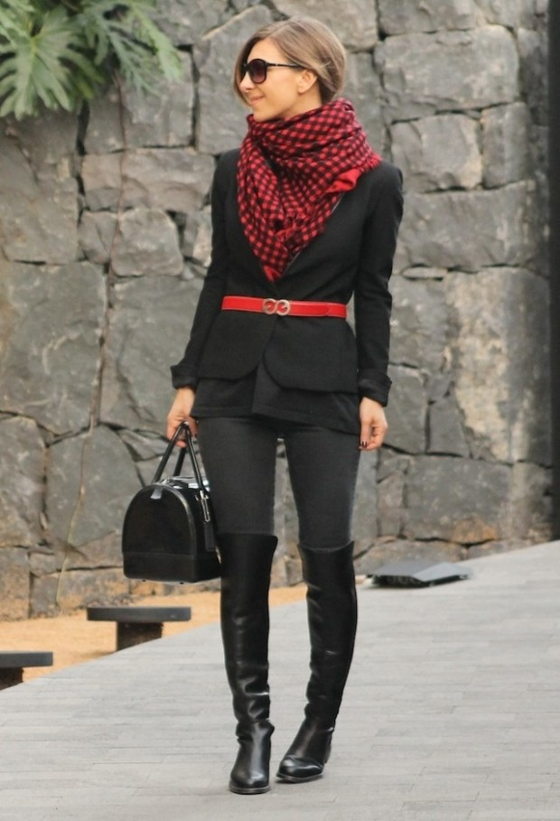 20 Popular Street Style Combinations for Winter (16)
