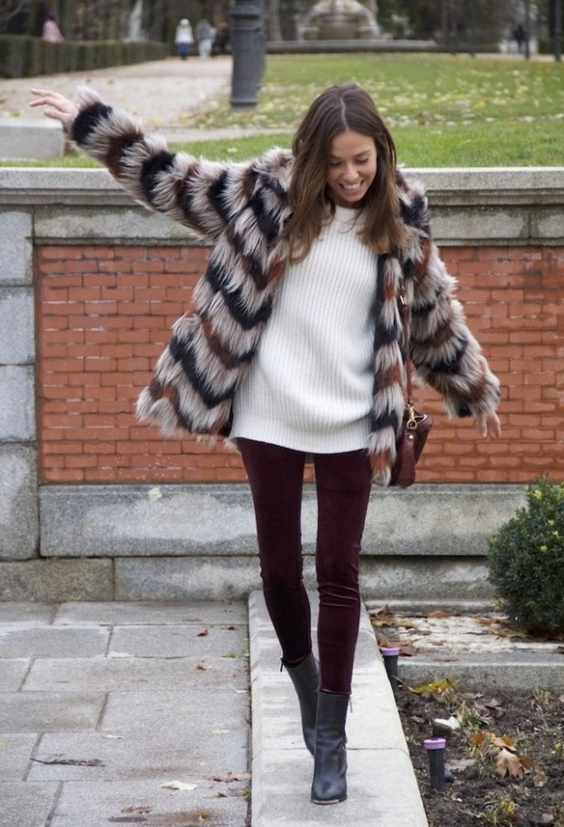 20 Popular Street Style Combinations for Winter (7)