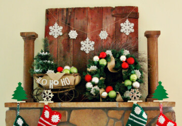 20 Rustic Christmas Decoration Ideas - rustic living room, rustic decoration, rustic, christmas decoration