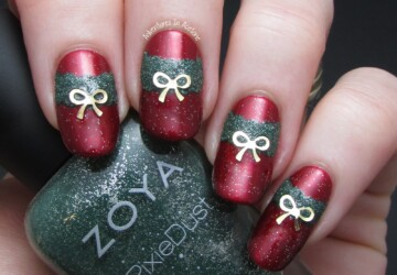 20 Sparkly and Glitter Nail Art Ideas in Christmas Spirit - nail art ideas, Nail Art, Glitter nails, Christmas nails