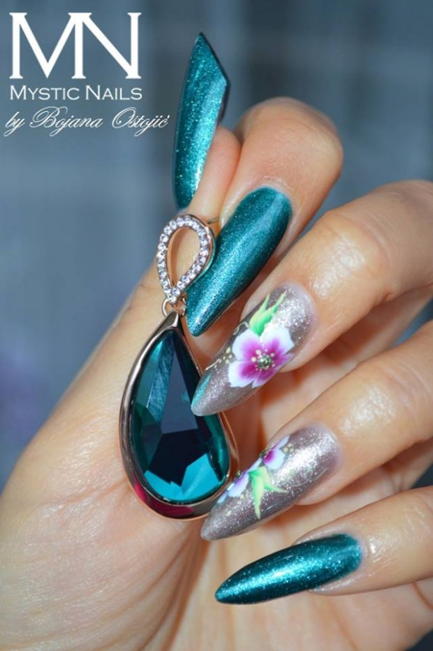 22 Unique and Extravagant Nail Designs - Style Motivation