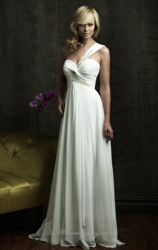 23 Elegant One Shoulder Wedding Dresses