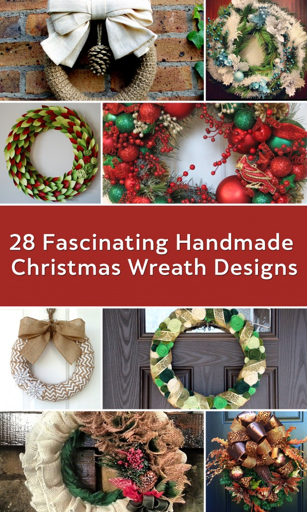 28 Fascinating Handmade Christmas Wreath Designs