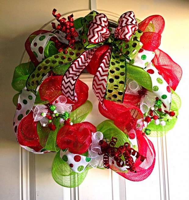 28 Fascinating Handmade Christmas Wreath Designs (10)