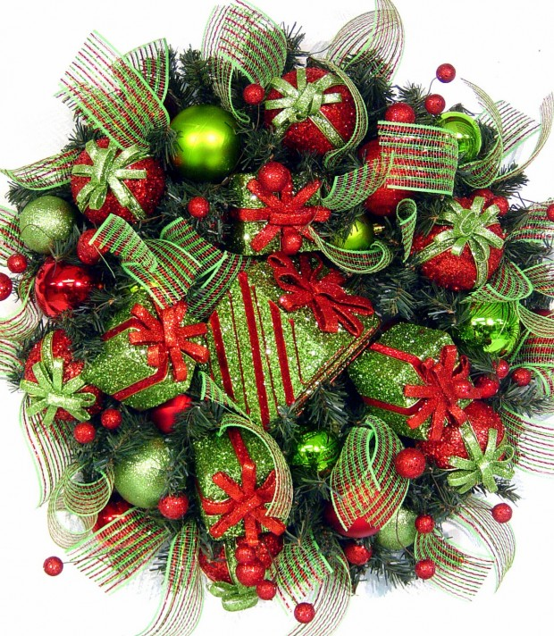 28 Fascinating Handmade Christmas Wreath Designs (11)