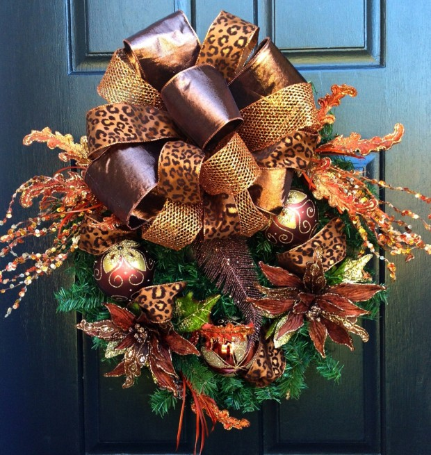 28 Fascinating Handmade Christmas Wreath Designs (13)