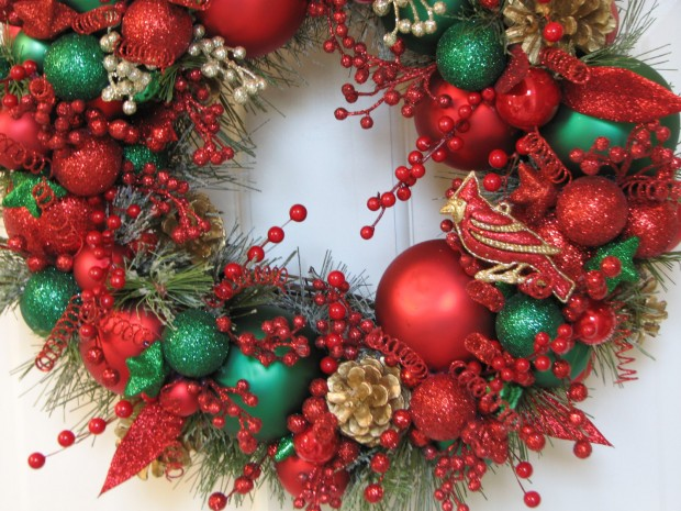 28 Fascinating Handmade Christmas Wreath Designs (14)