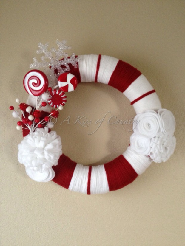 28 Fascinating Handmade Christmas Wreath Designs (15)