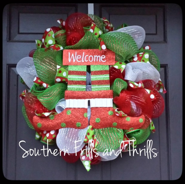 28 Fascinating Handmade Christmas Wreath Designs (18)