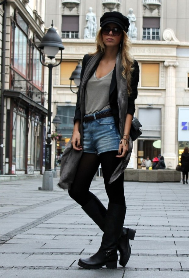 hot fashion trend biker boots style motivation
