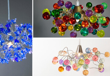 15 Incredibly Colorful Handmade Ceiling Lamp Designs - wall, lighting, light, leaves, Lamp, home, handmade, glass, decoration, decor, Colorful, color, chandelier, ceiling, bubble