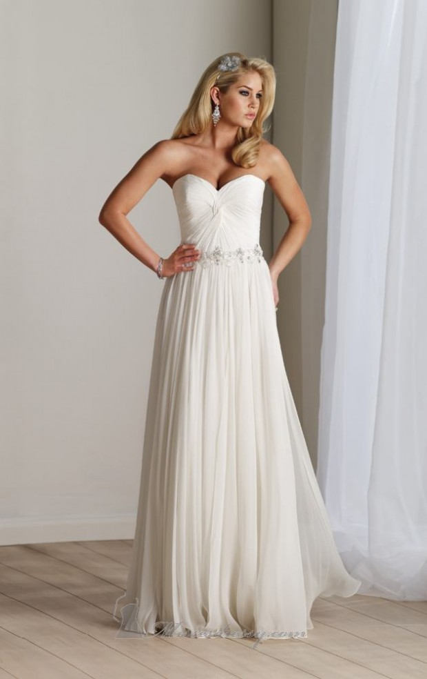 15 Romantic Chiffon Wedding Dresses