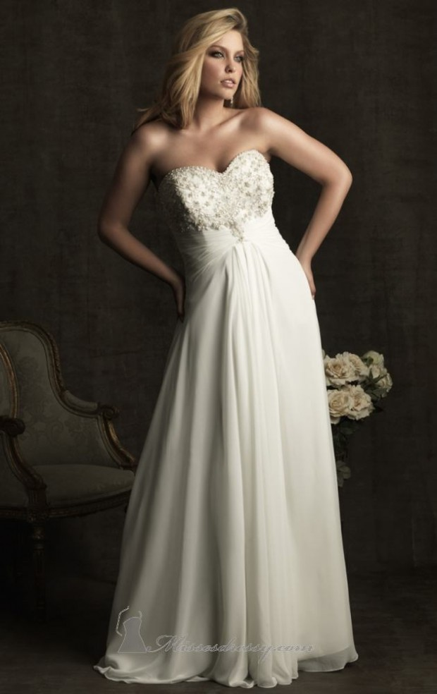 15 Romantic Chiffon Wedding Dresses (13)