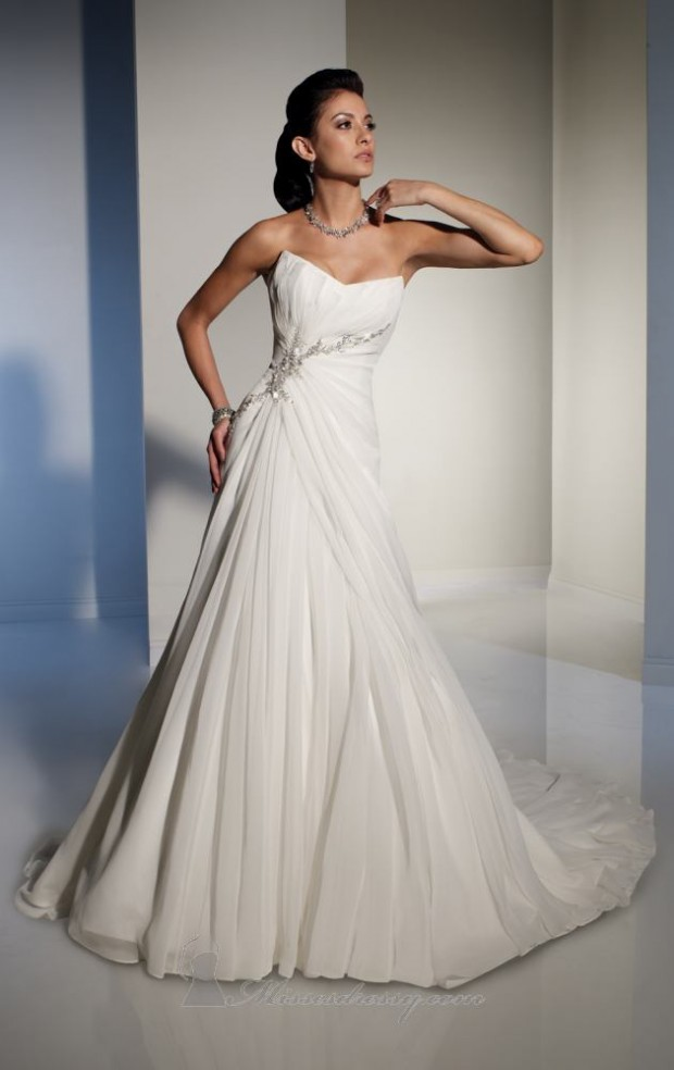 15 Romantic Chiffon Wedding Dresses (14)