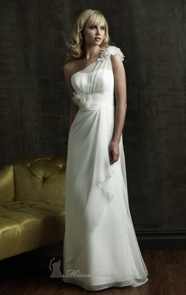 15 Romantic Chiffon Wedding Dresses (3)