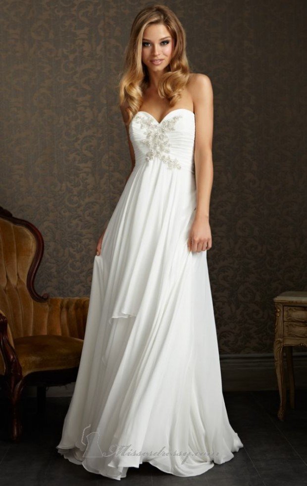 15 Romantic Chiffon Wedding Dresses (4)