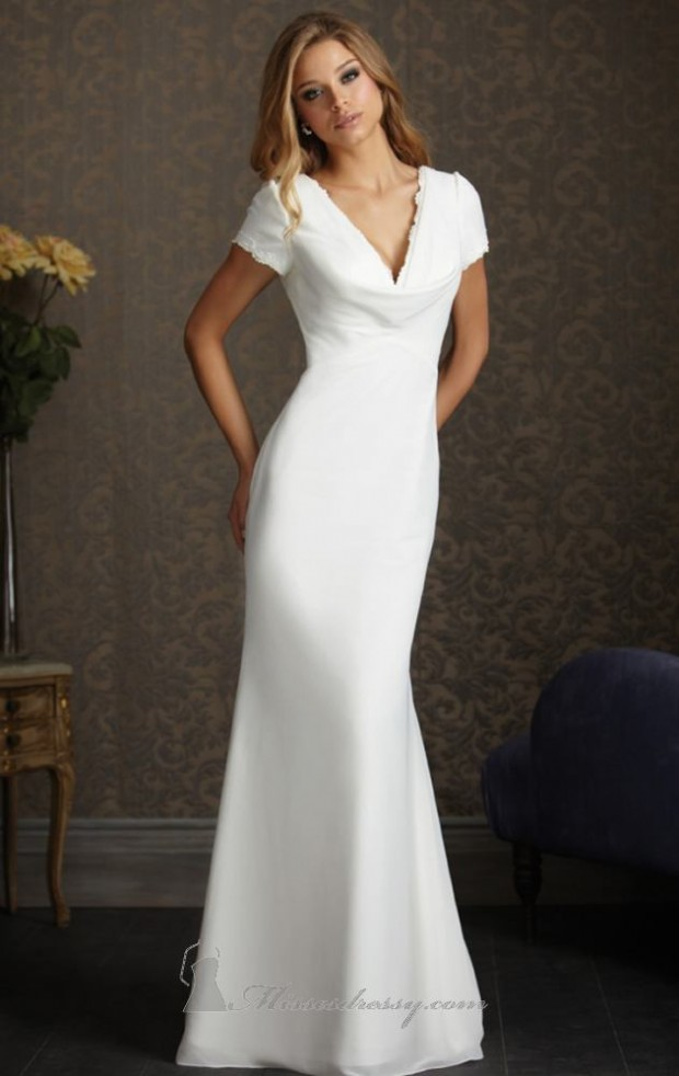 15 Romantic Chiffon Wedding Dresses (5)