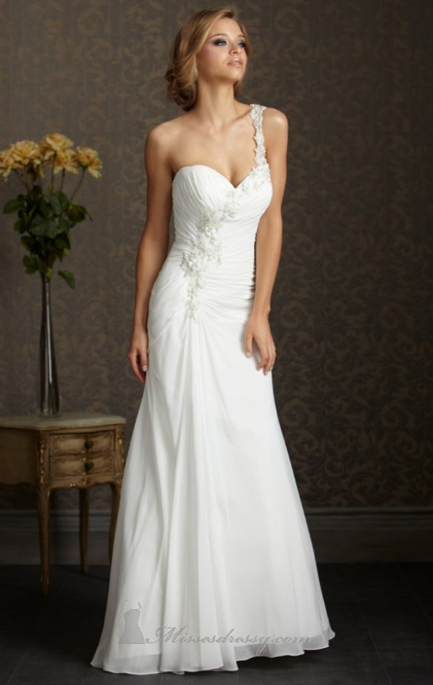 15 Romantic Chiffon Wedding Dresses (6)