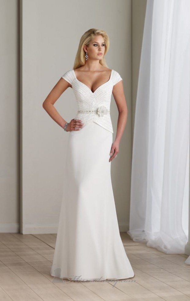 15 Romantic Chiffon Wedding Dresses (9)