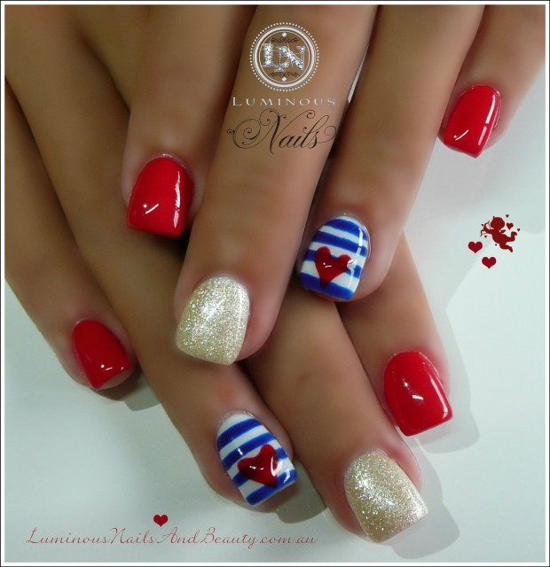 17 Adorable Nail Art Ideas for Valentine's Day (5)