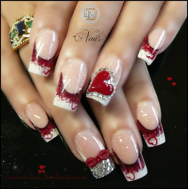 17 Adorable Nail Art Ideas for Valentine's Day (8)