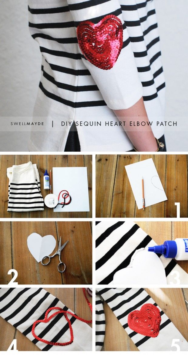 18 Adorable DIY Clothes and Accessories for Valentine's Day