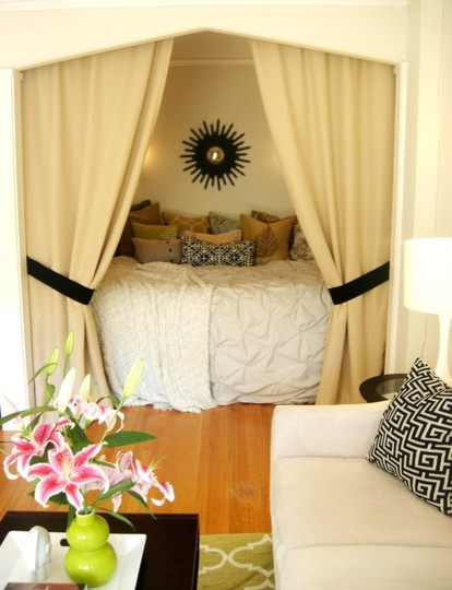 18 Creative and Clever Alcove Bed Design Ideas (8)