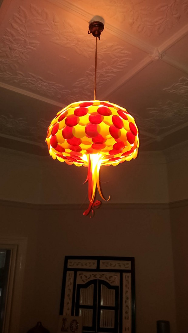 18 Outstandingly Creative Handmade Paper Lampshades (5)