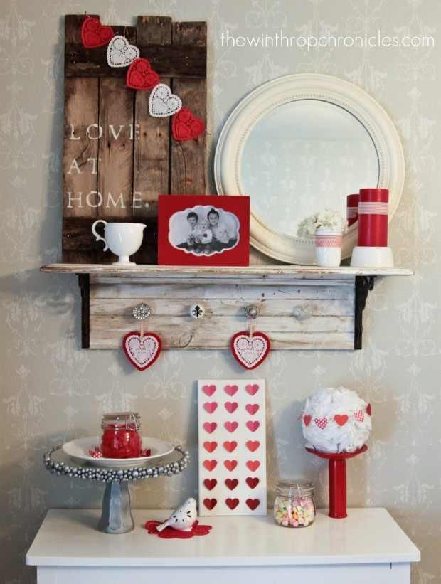 18 romantic diy home decor project for valentines day - Home Decor Diy