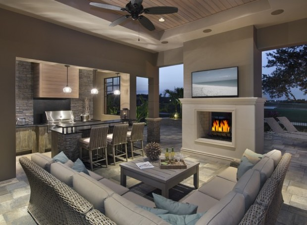17 Brilliant Outdoor Living Room Design Ideas - Style Motivation