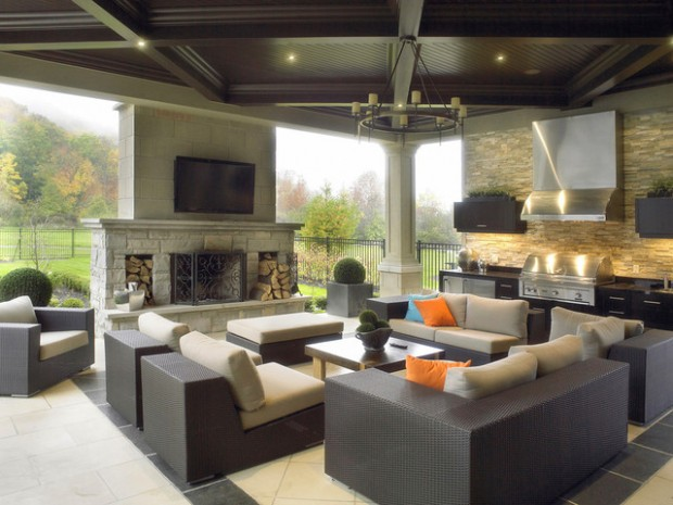 17 brilliant outdoor living room design ideas style for Outdoor living space designs