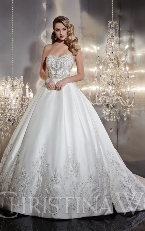 20 Beautiful Ball Gown Wedding Dresses for Glamorous Brides (14)