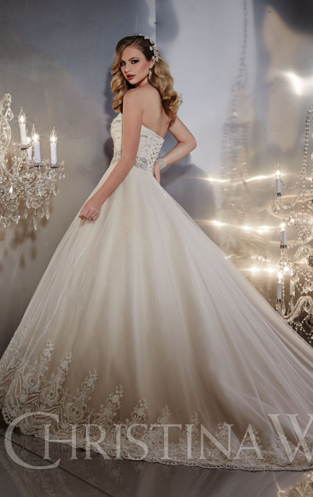 20 Beautiful Ball Gown Wedding Dresses for Glamorous Brides (15)