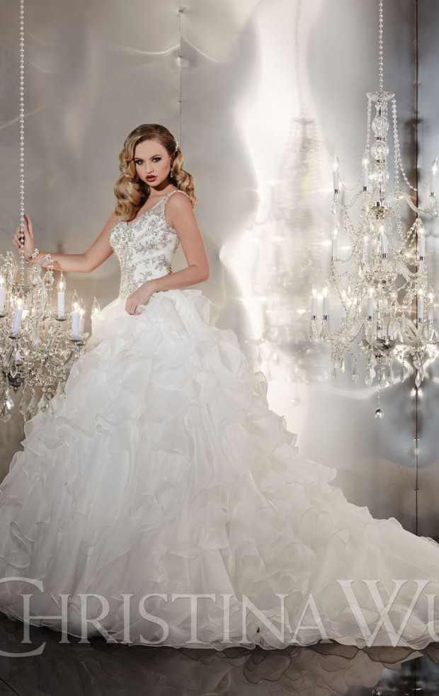 20 Beautiful Ball Gown Wedding Dresses for Glamorous Brides (17)