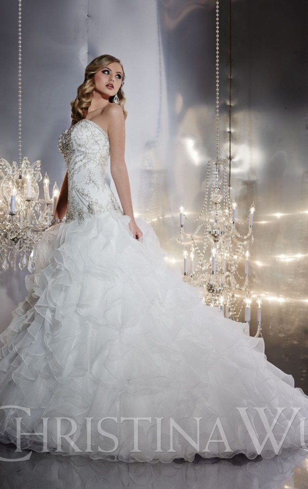 20 Beautiful Ball Gown Wedding Dresses for Glamorous Brides (18)