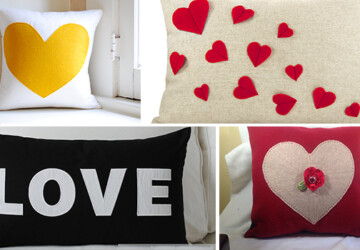 20 Charming Handmade Valentine's Day Pillow Designs - valentine, soft, red, Pink, Pillow, lover, love, heart, handmade, gift, day, cushion, cover, case