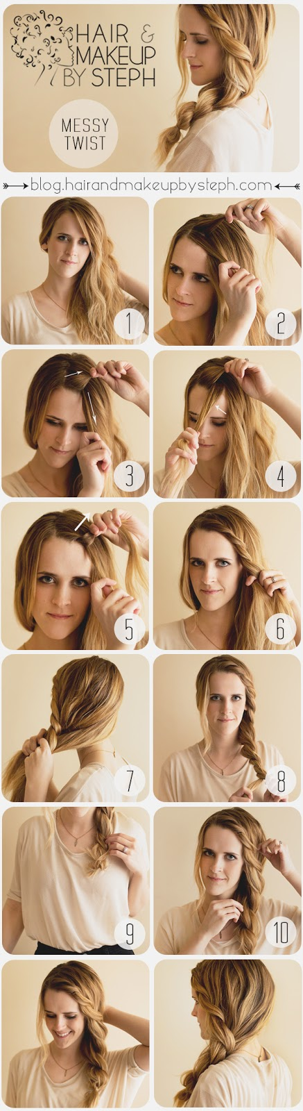 20 Cute and Easy Hairstyle Ideas and Tutorials (8)