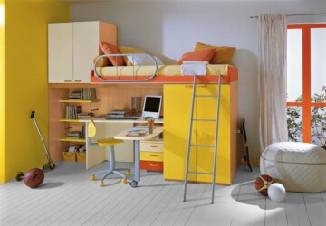 20 Great Loft Bed Design Ideas for Small Kids Bedrooms - loft bed, kids study room, kids furniture, kids