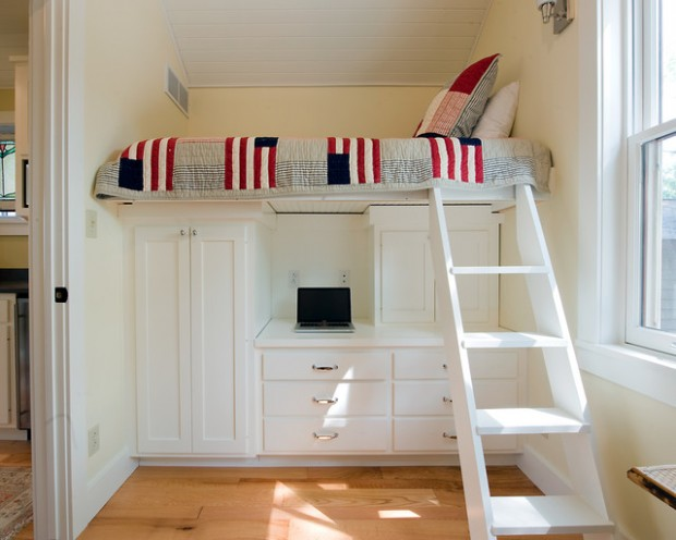 20 great loft bed design ideas for small kids bedrooms for Bedroom ideas small space