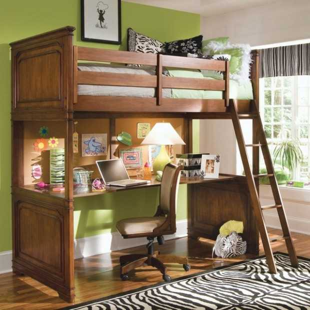 Lovely Twin Bunk Bed with Desk Pics Of Bunk Beds Decor