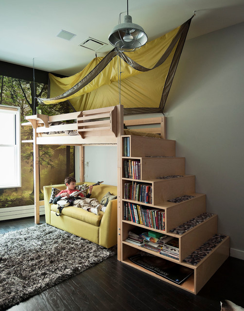 20 great loft bed design ideas for small kids bedrooms for Ideas for small bedrooms for kids