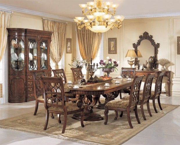 20 Luxury Dining Rooms in Traditional Style (2)