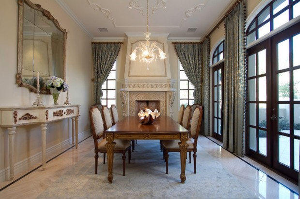 20 Luxury Dining Rooms in Traditional Style (9)
