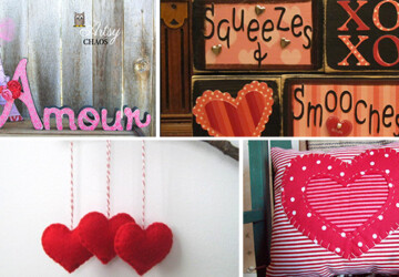 21 Diverse Valentine's Home Decorations - wreath, wood, various, valentine's, valentine, sign, sculpture, red, Pink, Pillow, paper, ornament, Mug, mixed, love, heart, hanged, handmade, garland, felt, door, diverse, decoration, decor, day, cotton, ceramic, candle, burlap, banner