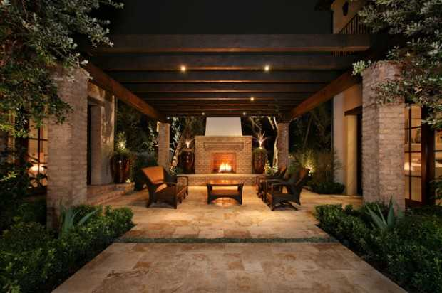 21 luxury patio design ideas for inspiration style for Luxury outdoor lighting