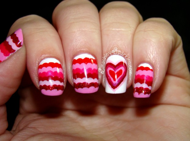 25 Lovely Valentine's Day Inspired Nail Art Ideas (21)