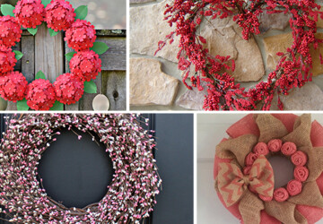 25 Outstandingly Cute Handmade Valentine's Wreath Designs - wreath, White, valentine's, valentine, ruffle, red, Pink, peace, mesh, love, hydrangea, hot, heart, hanger, hang, handmade, felt, door, deco, day, burlap